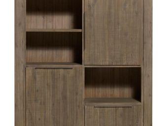 WHITE LABEL - vaisselier - danna - l 140 x l 45 x h 160 - bois - Vaisselier