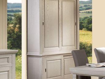 WHITE LABEL - vaisselier 4 portes coulissantes - berty - l 178 x - Vaisselier