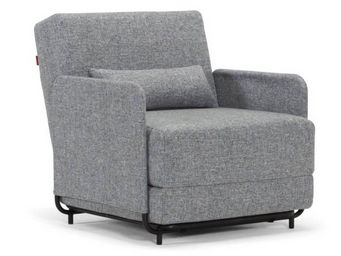 WHITE LABEL - innovation living fauteuil design fluxe bleu indig - Fauteuil Lit