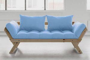 WHITE LABEL - banquette méridienne style scandinave futon celest - Banquette Lit
