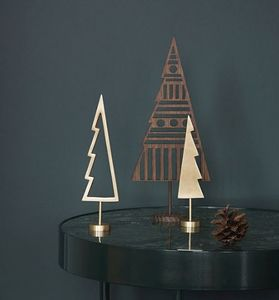 Ferm Living - winterland brass tree - Décoration De Table De Noël