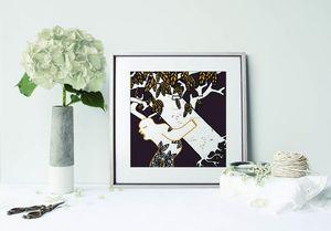 la Magie dans l'Image - print art arbre marron - Estampe