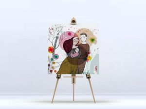 la Magie dans l'Image - toile famille - Impression Numérique Sur Toile