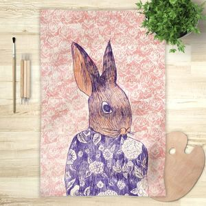 la Magie dans l'Image - foulard mon petit lapin fond rose - Foulard Carré