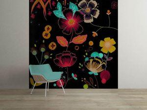 la Magie dans l'Image - grande fresque murale happy flowers - Papier Peint Panoramique