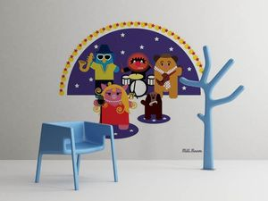 la Magie dans l'Image - grande fresque murale héros muppet - Papier Peint Panoramique