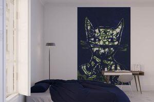 la Magie dans l'Image - grande fresque murale monsieur chat bleu - Papier Peint Panoramique