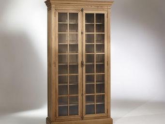 Robin des bois - vitrine, chêne, 5 étagères, 2 portes, henry - Armoire Vitrine