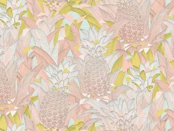 THEVENON - tropical klang rose - Tissu D'ameublement