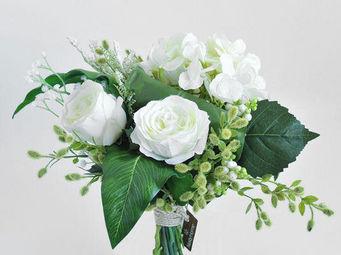 NestyHome - bouquet roses blanches - Fleur Artificielle