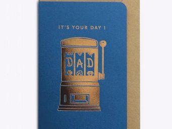 LES EDITIONS DU PAON - jackpot dad bleu - Carte De Correspondance