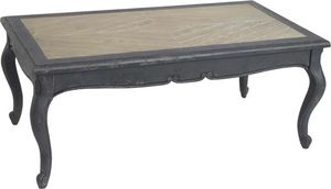 Amadeus - table basse plateau bois - Table Basse Rectangulaire