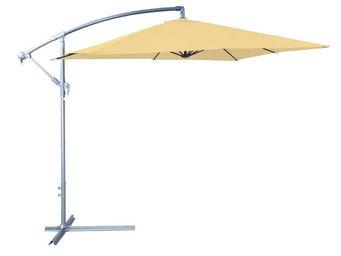 CEMONJARDIN - parasol déporté 250 x 250 cm en aluminium et acier - Parasol Excentré