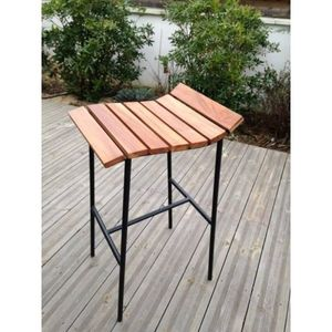 Mathi Design - tabouret de bar lounge noir - Tabouret De Bar