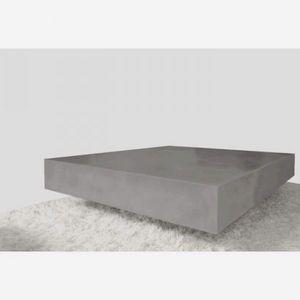 Mathi Design - table en beton cube - Table Basse Carrée