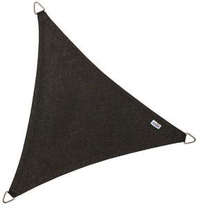 jardindeco - voile d'ombrage triangulaire coolfit noir - Voile D'ombrage