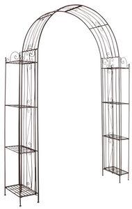 AUBRY GASPARD - arche de jardin pour plante grimpante en métal vie - Arche