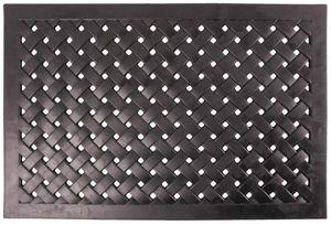 Esschert Design - paillasson en caoutchouc tressé rectangulaire - Paillasson