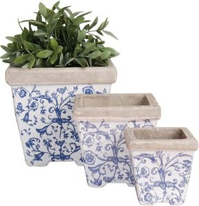 Esschert Design - pots en céramique patiné (lot de 3) - Cache Pot