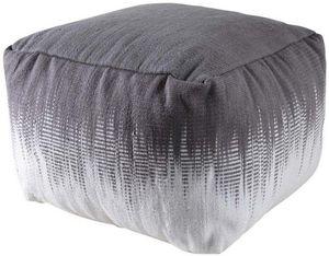 Aubry-Gaspard - pouf carré en coton plumes - Pouf