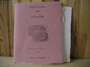 MOULIN DE LARROQUE - cahier aquarelle satine 25*32  - Papier À Aquarelle