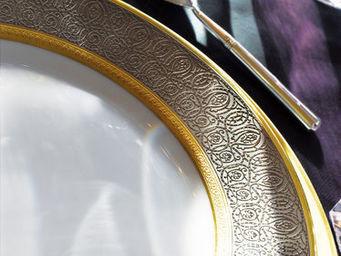 Haviland - palmyre platine - Assiette Plate