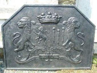 antiquites materiaux anciens deco de jardins -  - Plaque De Cheminée