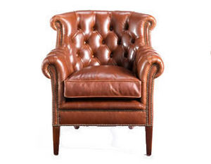 Leather Studio -  - Fauteuil Chesterfield