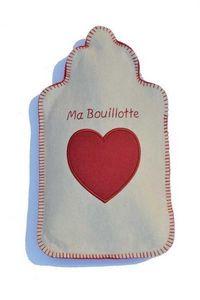 LES BOUILLOTTES DE BEA - ma bouillotte �cru/rouge - Bouillotte