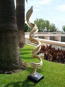 DECO-NATURE - liane design montée sur socle éclairé - Sculpture Végétale