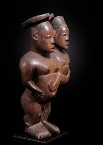 Lisa & Philippe Laeremans - rare couple, mangbetu - Statuette