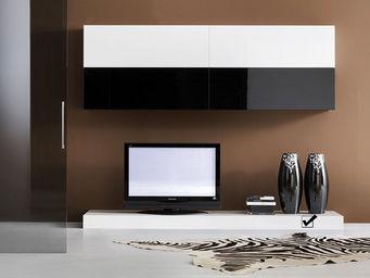 ACHATDESIGN - meuble tv mural slim s blanc - Meuble De Salon Living