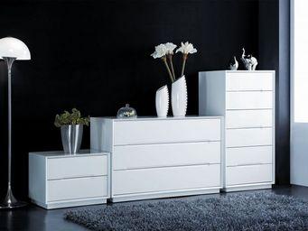ACHATDESIGN - meuble de chambre homa blanc 3 tiroirs - Meuble De Salon Living