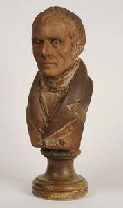Philippe Vichot - buste d'homme en terre cuite - Buste