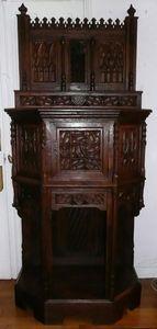 Antiquités LORMAYE - large gothic credence - Crédence