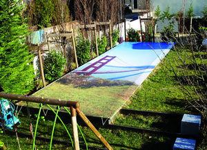 Tiki concept -  - Couverture De Piscine À Oeillets