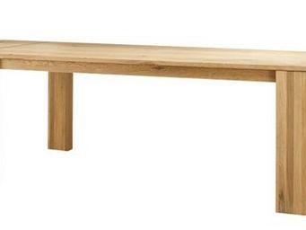 MEUBLES ZAGO - table chêne 200cm avec allonges côme - Table De Repas Rectangulaire