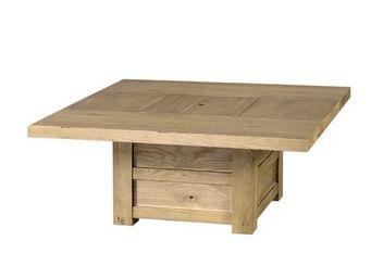 MEUBLES ZAGO - table basse coffre chêne moon - Table Basse Carrée