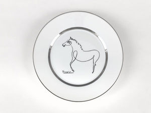 MARC DE LADOUCETTE PARIS - picasso le cheval - Assiette Décorative