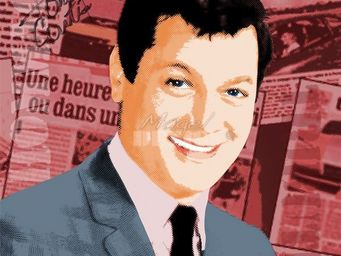Magel'design - tony curtis120x120 cm , 3d effet relief - Portrait
