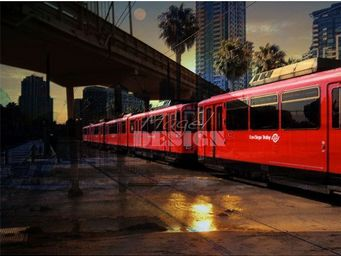 Magel'design - san diego trolley 120x90 cm , 3d effet relief - Tableau Contemporain