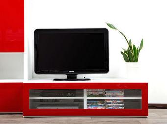 Miliboo - symbiosis meuble tv blanc - Meuble Tv Hi Fi