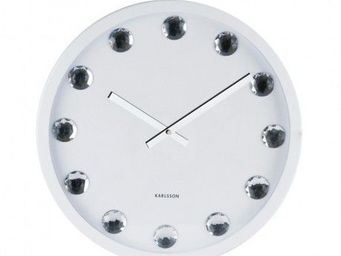 Karlsson Clocks - karlsson - horloge big diamond - karlsson - blanc - Horloge Murale