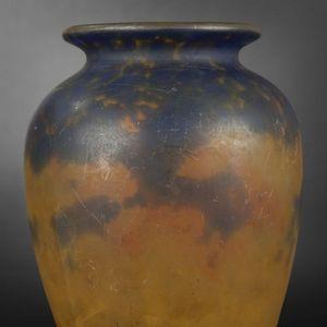 Expertissim - muller freres. petit vase balustre - Vase À Fleurs