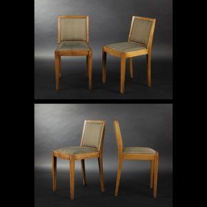 Expertissim - suite de six chaises en chêne massif - Chaise