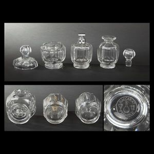 Expertissim - baccarat. garniture de toilette en cristal - Flacon