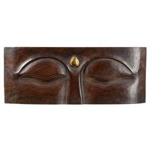 Maisons du monde - plaque murale yeux bouddha - Haut De Porte