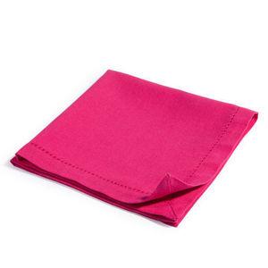 Maisons du monde - serviette unie framboise - Serviette De Table