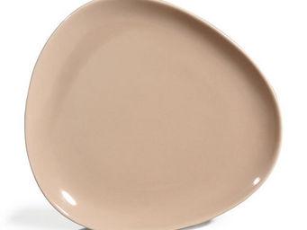 Maisons du monde - assiette plate stone beige - Assiette Plate