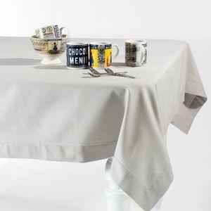 Maisons du monde - nappe unie gris clair 150x250 - Nappe Rectangulaire